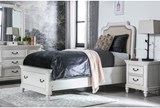 Emily Twin Upholstered Storage Bed - Room