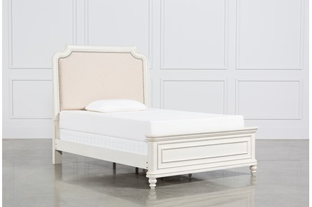 Emily Full Upholstered Panel Bed - Main