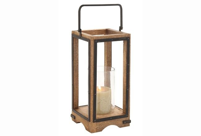 22 Inch Wood Lantern - 360