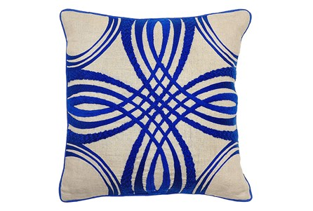 Accent Pillow-Zina Blue 18X18