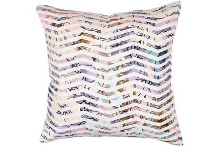 Accent Pillow-Jude Floral Chevron 22X22 - Main