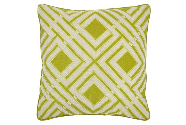 Accent Pillow-Sandler Geo Green 18X18 - 360