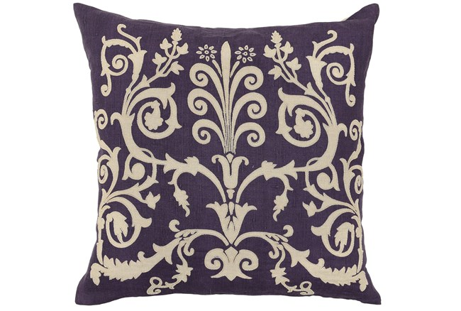 Accent Pillow-Valentino Plum 22X22 - 360