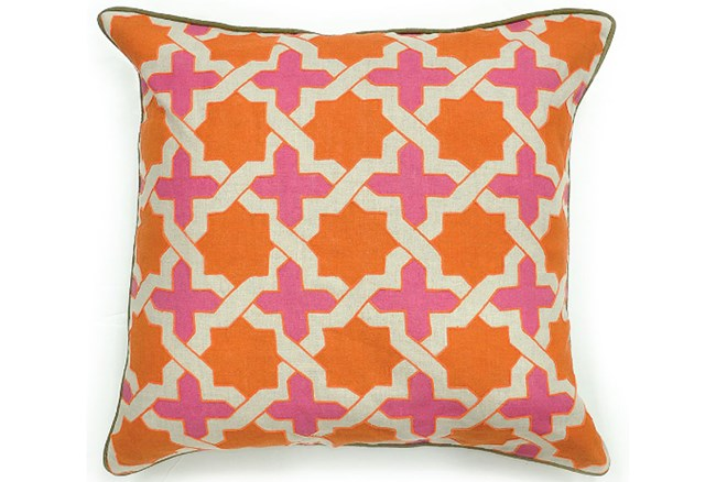 Accent Pillow-Phoebe Orange/Pink 22X22 - 360
