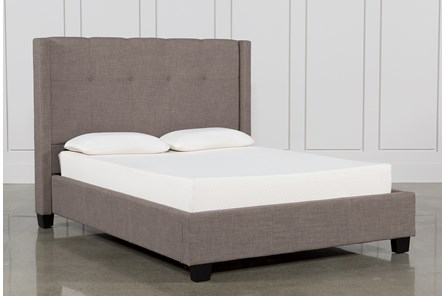 Damon Stone Queen Upholstered Platform Bed