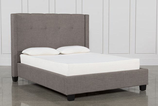 Damon Stone Full Upholstered Platform Bed - 360