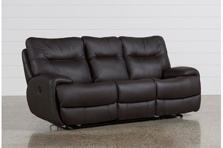 Oliver Graphite Leather Power Reclining Sofa - Main