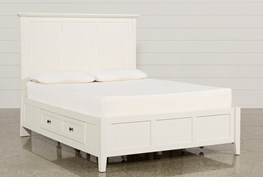Copenhagen White Eastern King Storage Bed