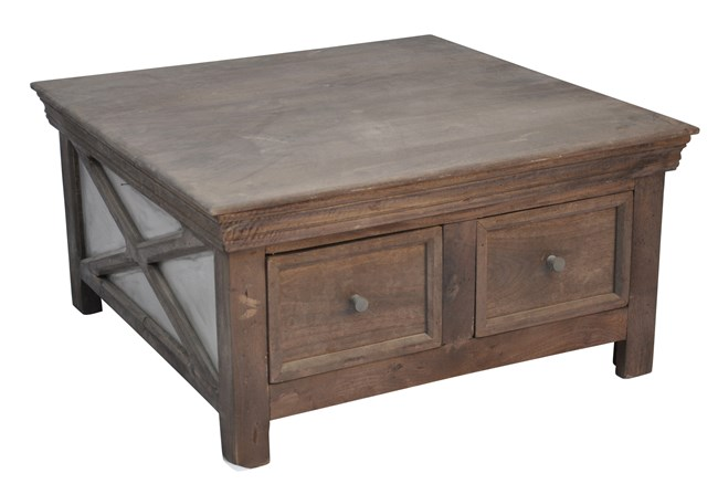 Shakti 4-Drawer Square Coffee Table - 360