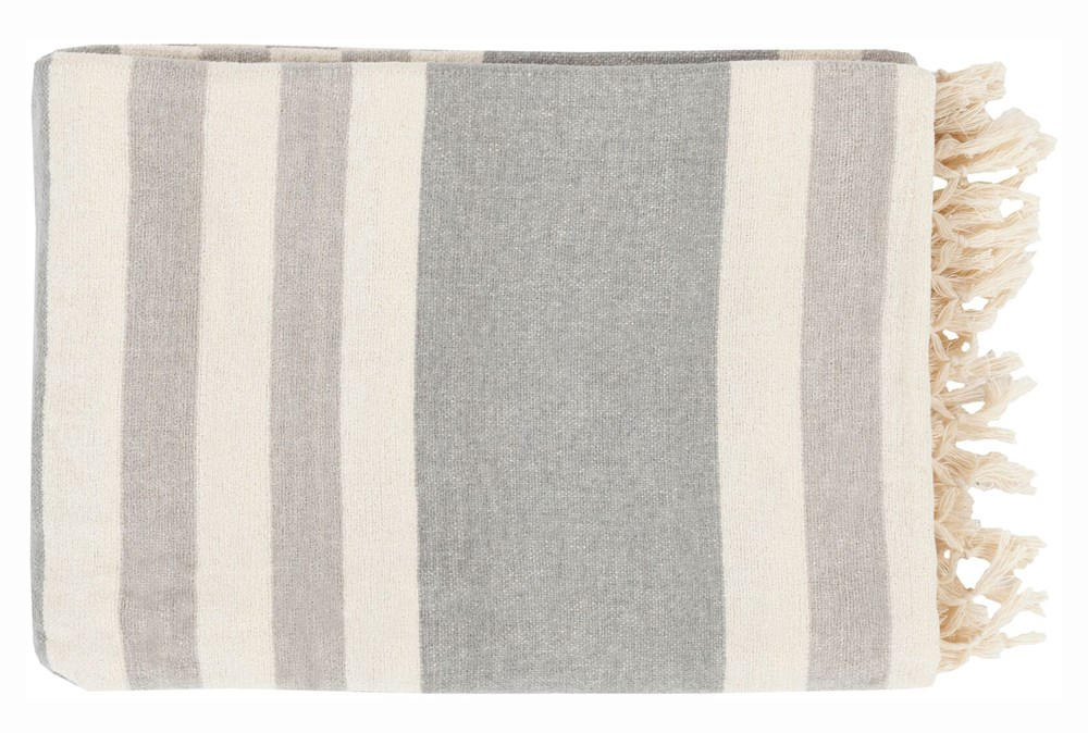 Accent Throw-Dermot Silver Striped