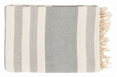 Accent Throw-Dermot Silver Striped - Main