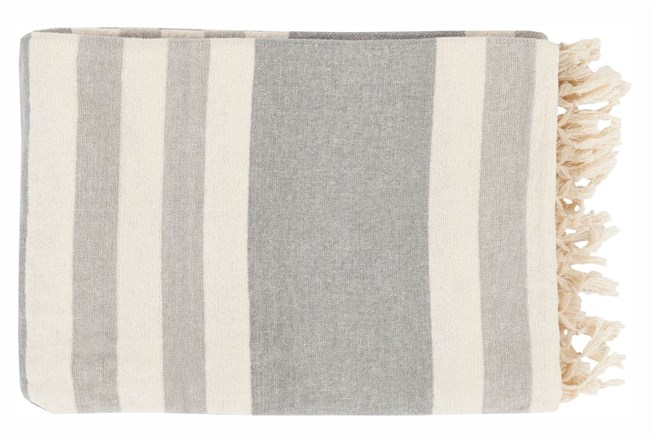Accent Throw-Dermot Silver Striped - 360