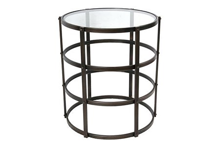 Caged Metal Accent Table