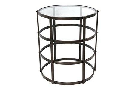 Caged Metal Accent Table - Main