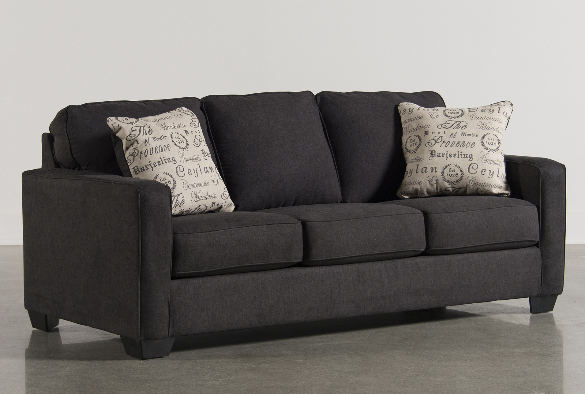 alenya charcoal queen sofa sleeper living spaces rh livingspaces com living spaces sofa bed sectional sofa sleeper living spaces