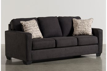 "Alenya Charcoal 84"" Queen Sofa Sleeper"