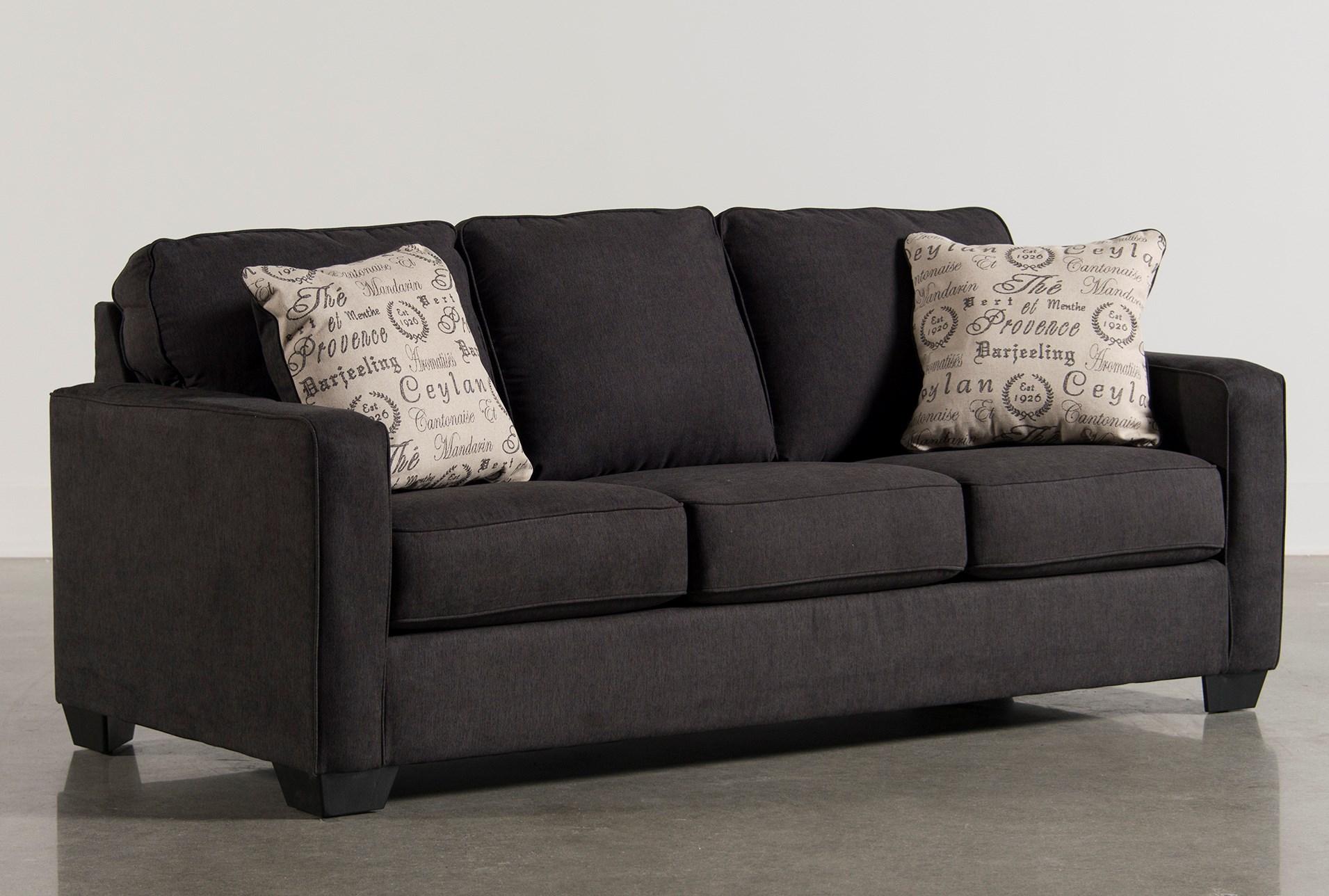 queen sofa bed. Alenya Charcoal Queen Sofa Sleeper - 360 Bed