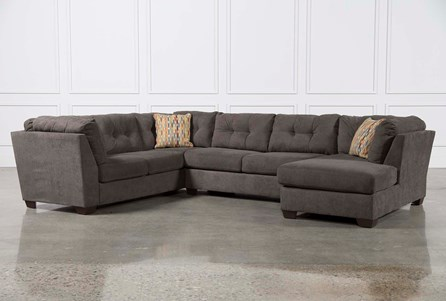 Delta City Steel 3 Piece Sectional W/Sleeper & Right Facing Chaise