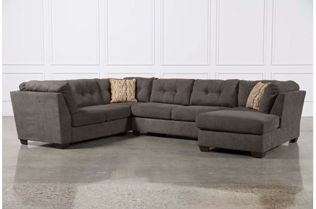Delta City Steel 3 Piece Sectional W/Sleeper & Right Facing Chaise - Main