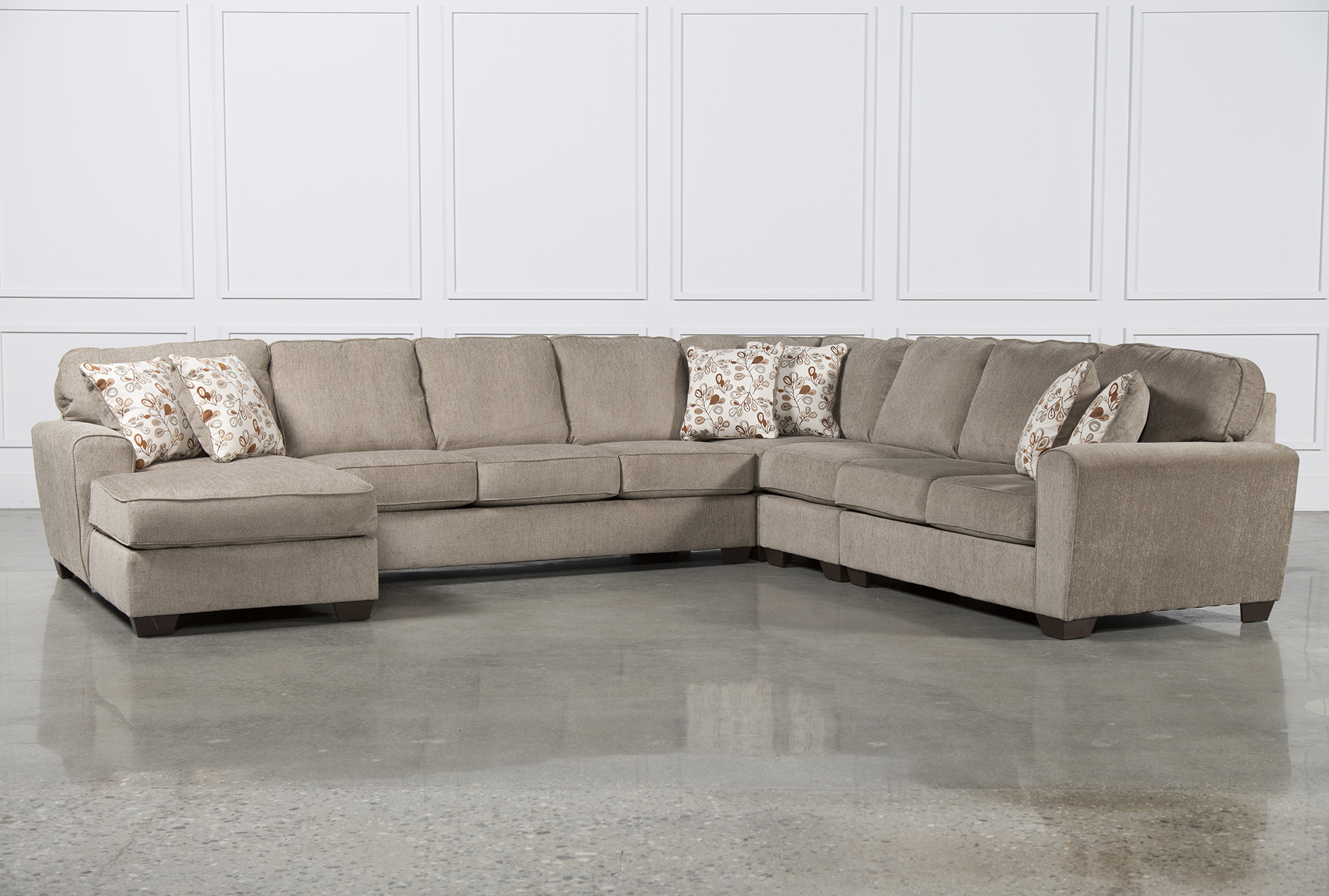 Patola Park 5 Piece Sectional WLaf Chaise Living Spaces