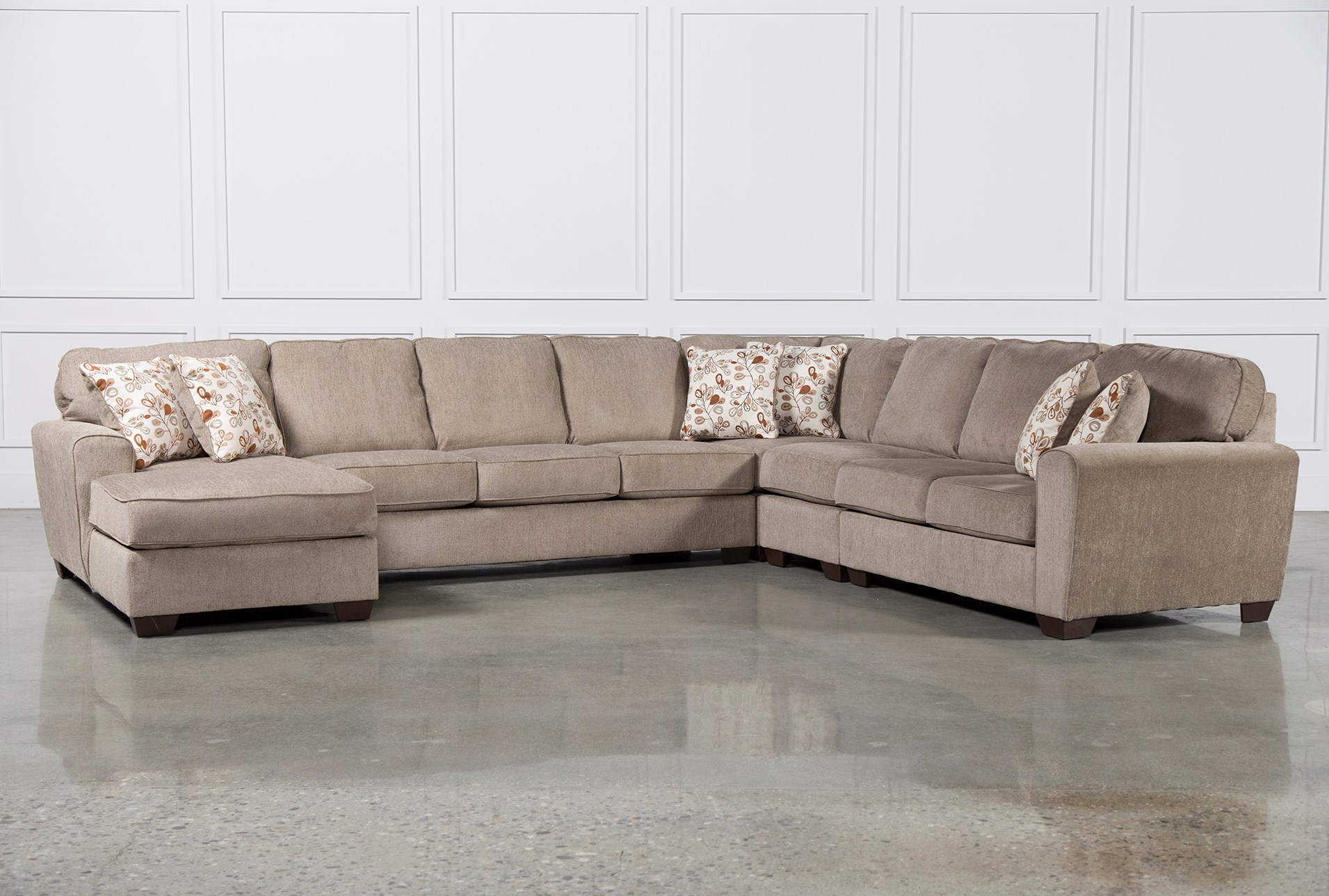 Patola Park 5 Piece Sectional W Laf Chaise Living Spaces ~ How To Measure A Sectional Sofa With Wedge