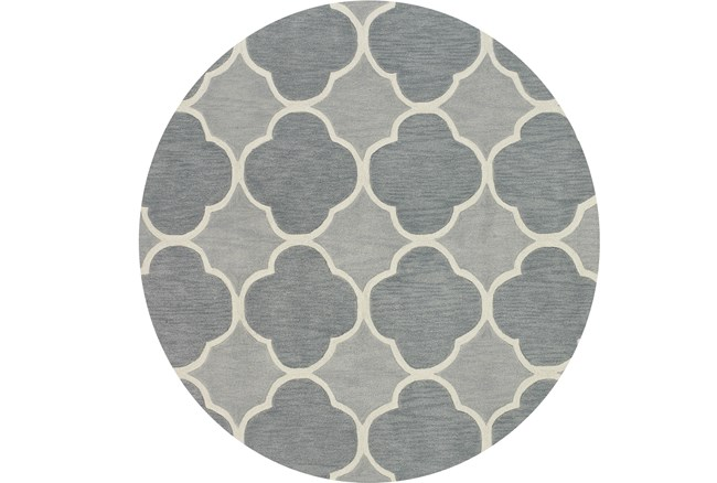 96 Inch Round Rug-Sky Bloom - 360