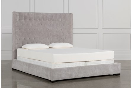 Madeline Eastern King Upholstered Panel Bed - Main