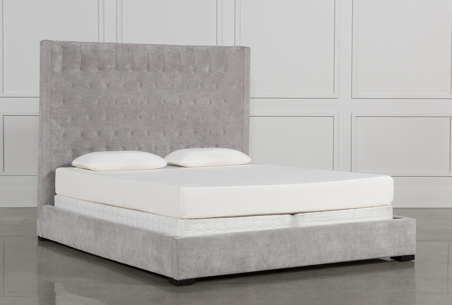 Merveilleux Madeline Eastern King Upholstered Panel Bed