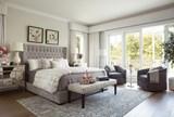 Madeline California King Upholstered Panel Bed - Room
