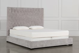 Madeline California King Upholstered Panel Bed