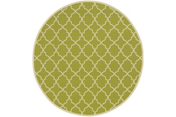 94 Inch Round Rug-Montauk Lime
