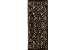 31X112 Rug-Carrington Traditions Charcoal/Blue