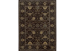 79X114 Rug-Carrington Traditions Charcoal/Blue