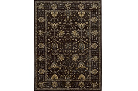 94X130 Rug-Carrington Traditions Charcoal/Blue