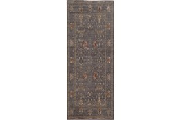 31X112 Rug-Carrington Traditions Blue/Gold