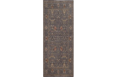 31X112 Rug-Carrington Traditions Blue/Gold - Main