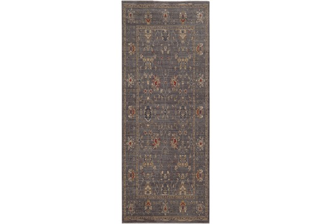 31X112 Rug-Carrington Traditions Blue/Gold - 360