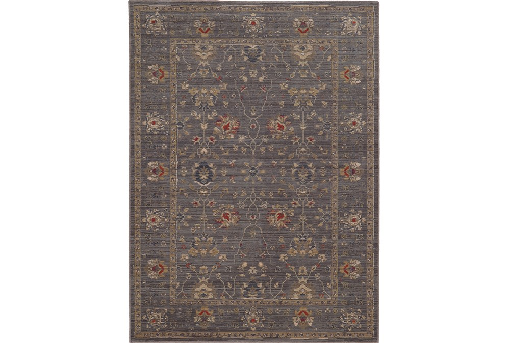 94X130 Rug-Carrington Traditions Blue/Gold