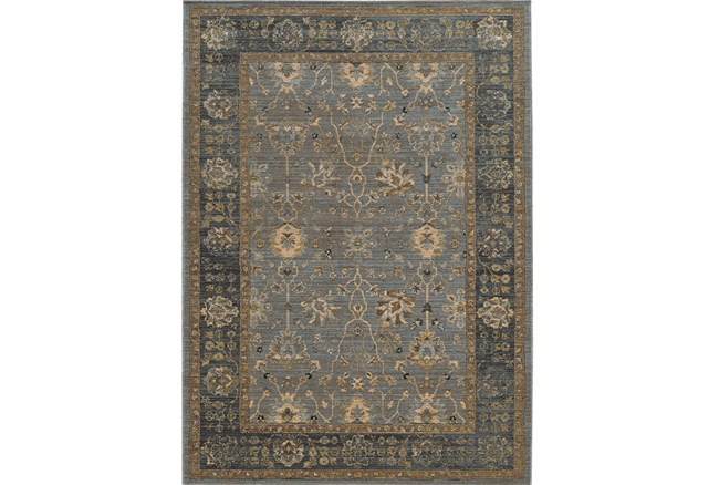 79X114 Rug-Carrington Traditions Blue/Beige - 360
