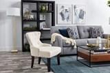 Vivianne Linen Accent Chair - Room