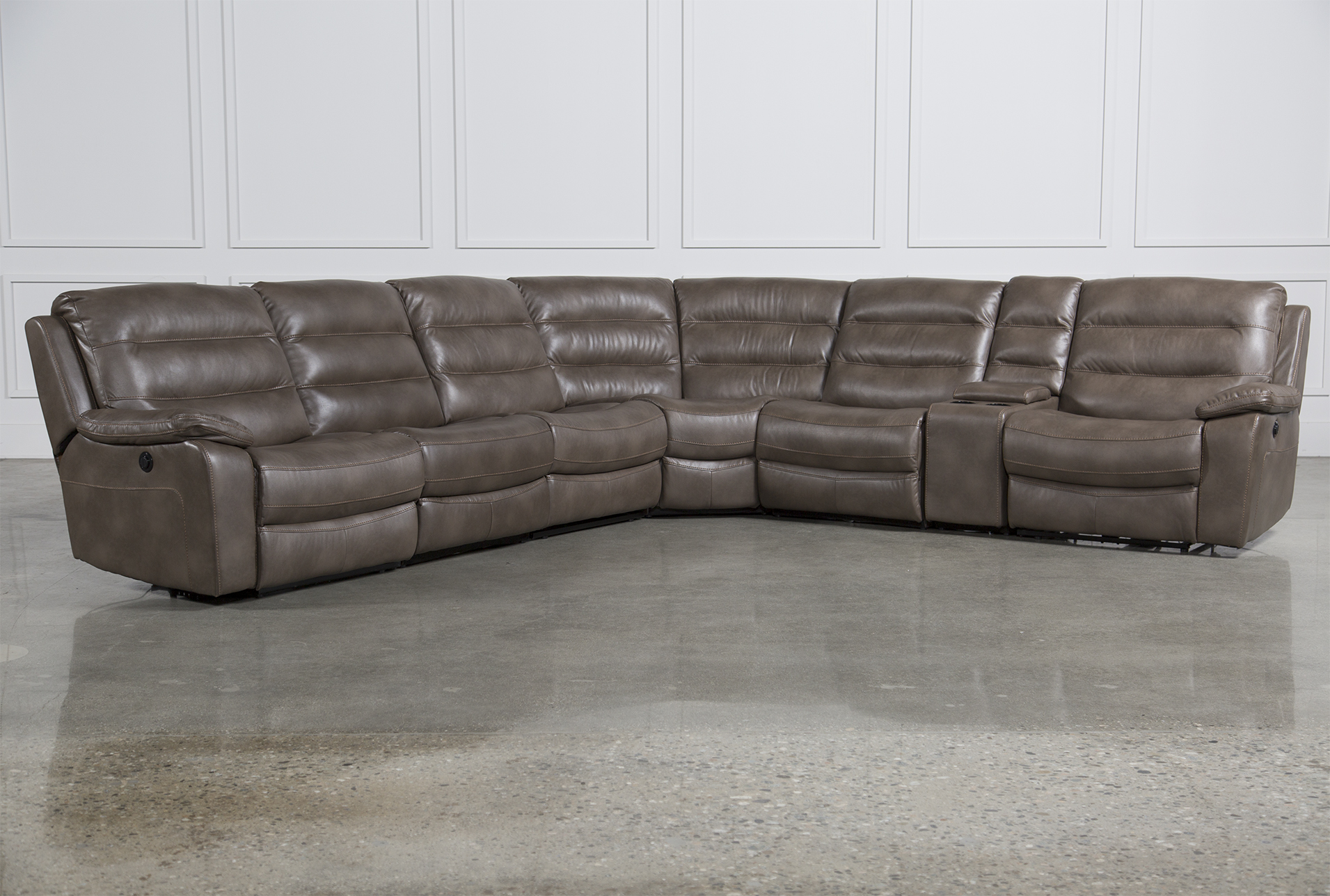 Lachlan 7 Piece Sectional W/2 Armless Chairs   360