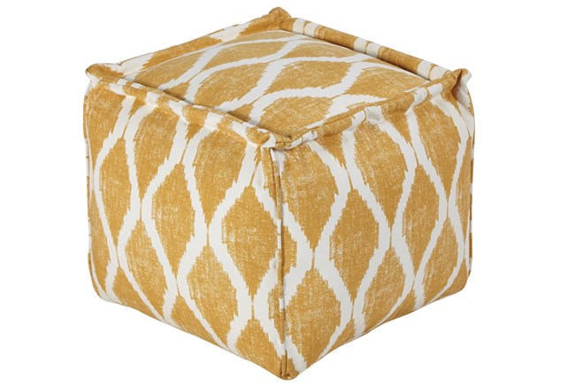 Pouf-Yellow/White - 360