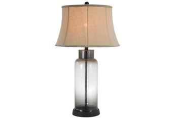 Table Lamp-Erynn Smoke Glass