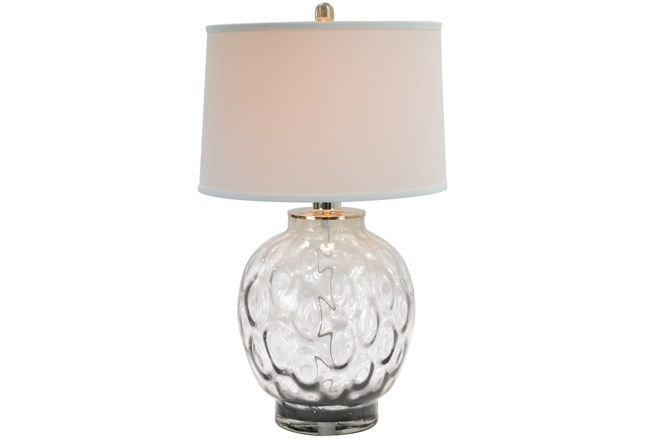Table Lamp Bubble Glass Clear Living Spaces