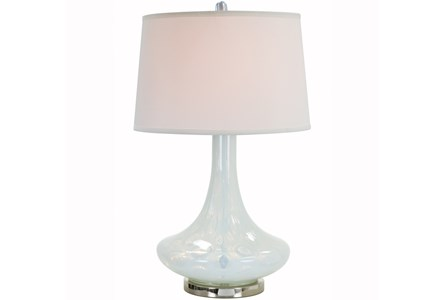 Table Lamp-Milk Glass