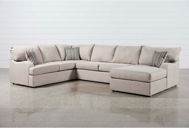 "Meyer 3 Piece 139"" Sectional With Right Arm Facing Chaise - 360"
