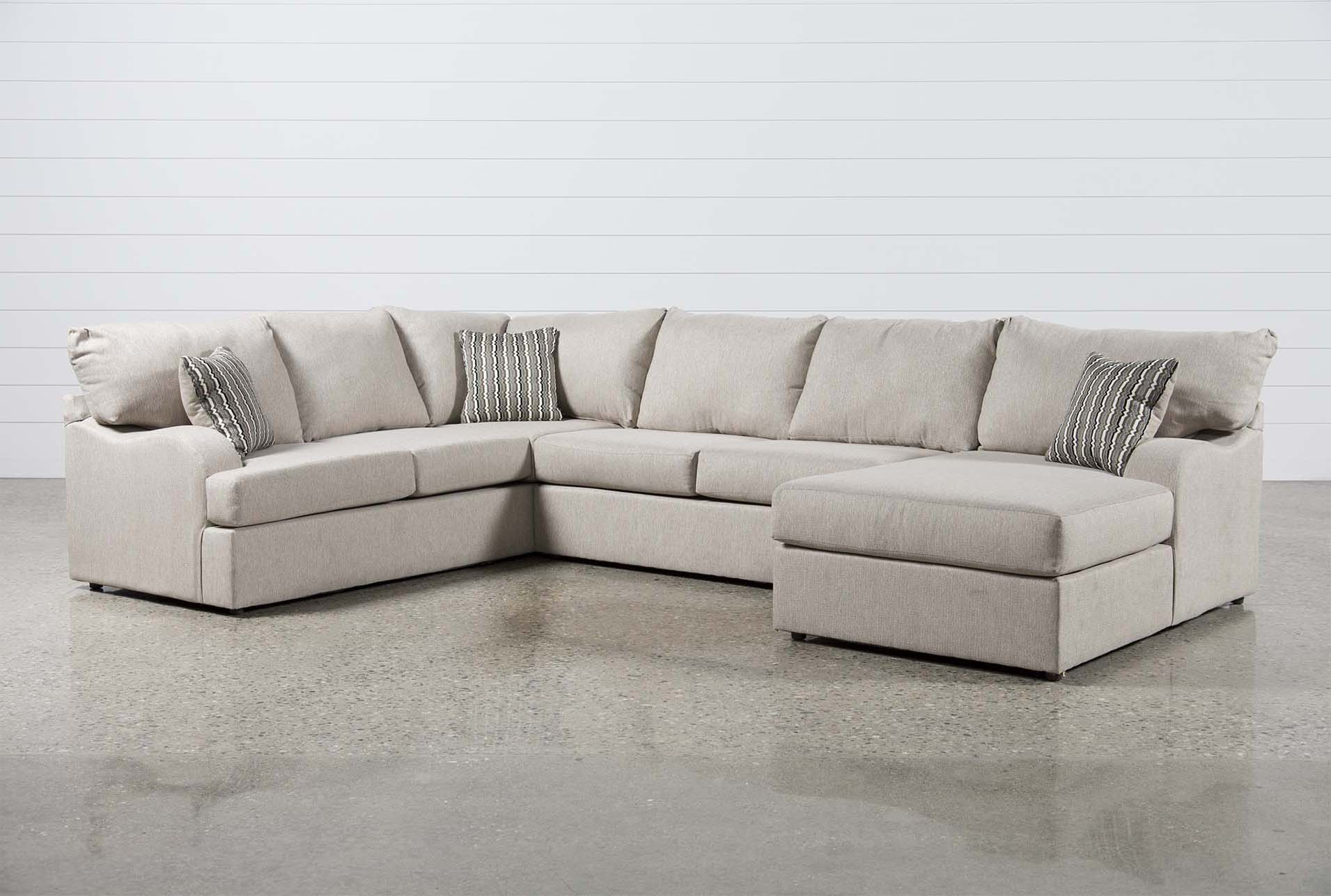Superbe Meyer 3 Piece Sectional W/Raf Chaise