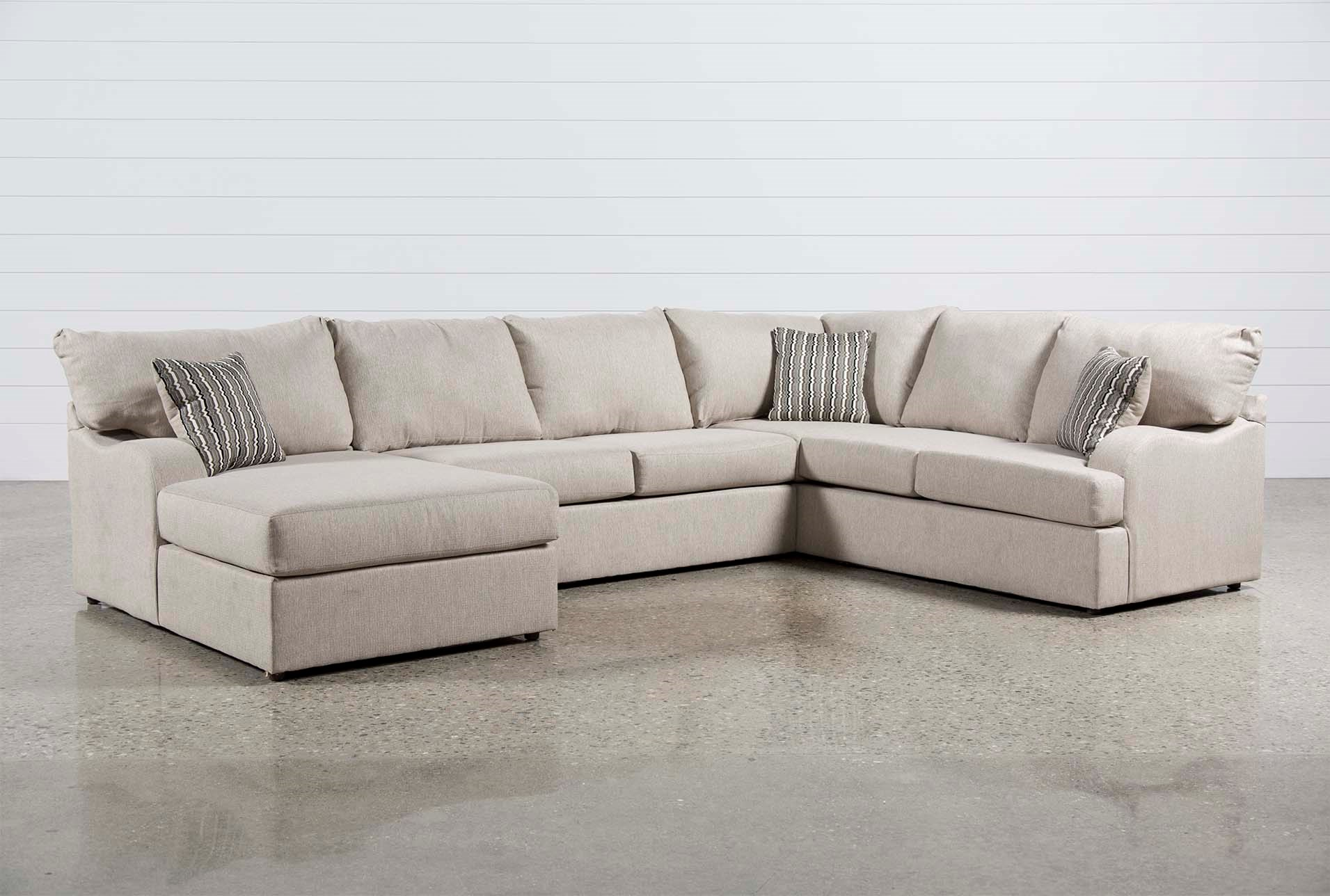 meyer 3 piece sectional w laf chaise living spaces
