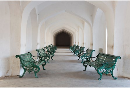 Picture-36X24 Jaipur Waiting Room By Karyn Millet