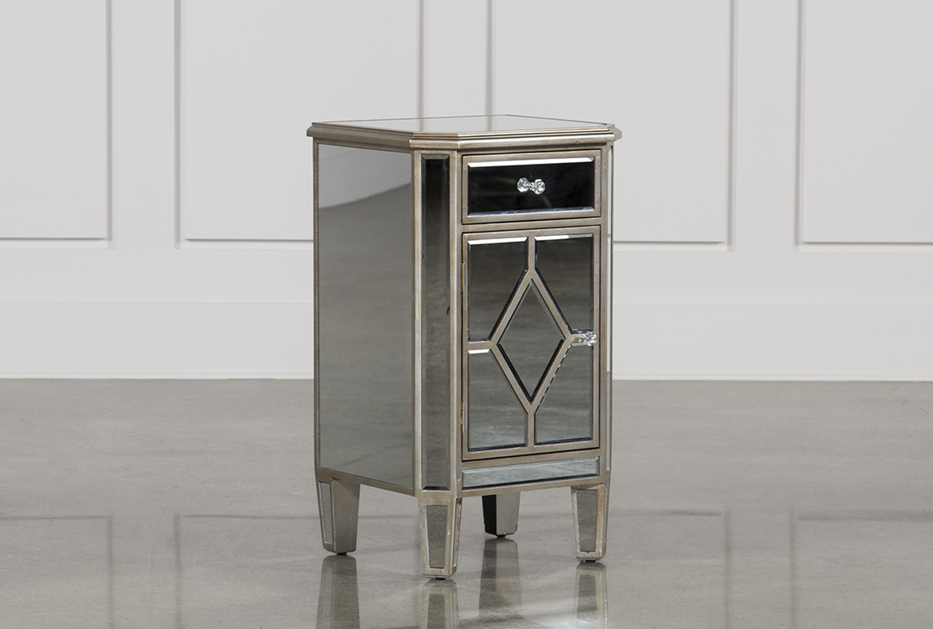 Hayworth Mirrored Nightstand (Qty: 1) Has Been Successfully Added To Your  Cart.